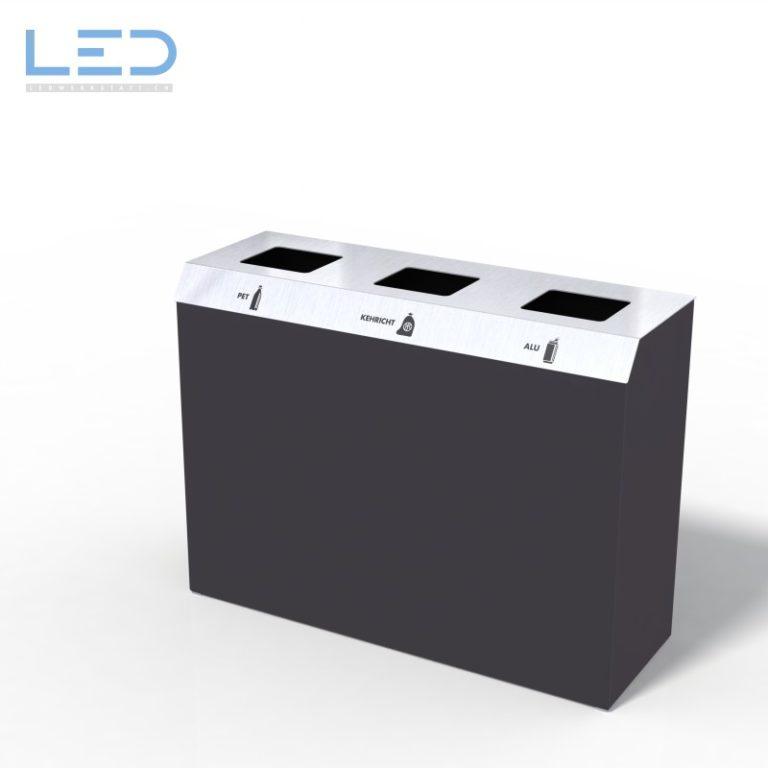 Recyclingstation C-Bin Serie, Wertstofftrenner, Wertstoffbehälter, Recyclin Station, Entsorgungssystem, Waste Bin 110l, 60l, PET