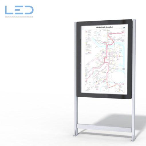 LED Infokasten A0 mit indirekter Beleuchtung, Leuchtkasten