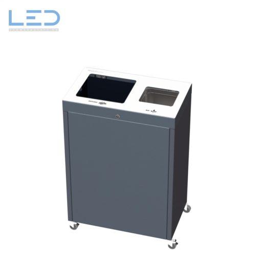 Recyclingstation, Wertstoffbehälter Multilith 2.0 Kehricht und PET, Wertstofftrenner, recycle bin, trash, Cans