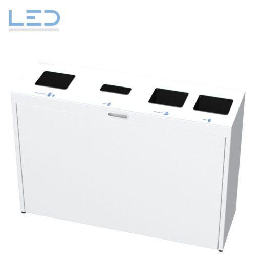 Recyclingstation Multilith 4.0, Wertstoffbehälter, Abfallsystem, Waste Bin, Bechersammler, PET Recycling