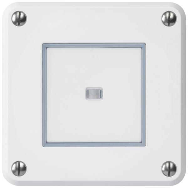 Hager Robusto, UP-Drucktaster ROB ws beleuchtet, E-Nr 366324003, EAN-Nr 7611795457226, IP55