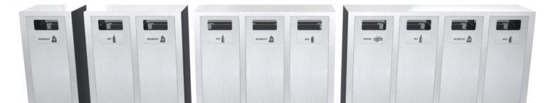 W-Serie Recyclingstation, Recycling Station, Wertstofftrenner, Wertstoffbehälter, PET, 110 Liter