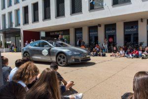 Wave Trophy 2018 mit dem Tesla Model S, Schul Event