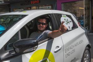 Wave Trophy 2018, Peter im Renault Zoe der CKW