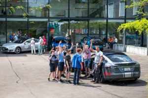 Wave Trophy 2018 mit dem Tesla Model S am Schul Event