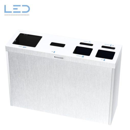 Multilith 4.2 Inox, Recylcingstation, Abfallbehälter, Edelstahl, Waste Bin, furniture