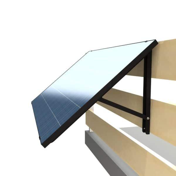 Balkon PV-Modul 300 Watt mit Wechselrichter, Solaranlage für Mieter, Solarmodul Plug and Play