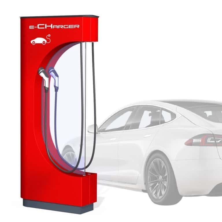 Elektro Auto Ladesäule, E-Ladesäulen, E-Charger, Stromtankstelle, E-Mobility, Supercharger, E-Ladestation, 22 kWh, Typ 2