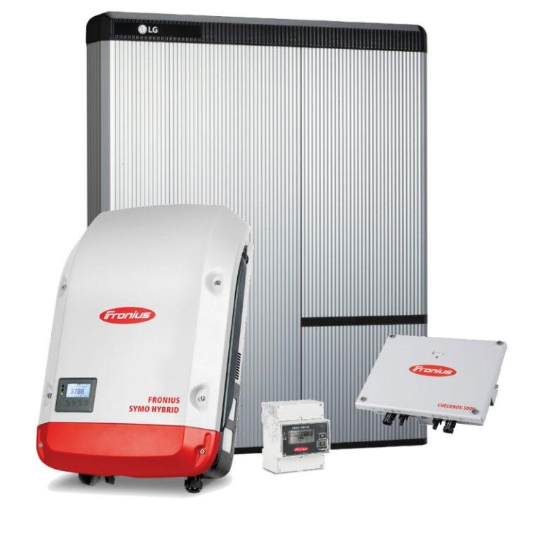 Batterie Speicher LG-Chem RESU, Fronius Symo Hybrid, Wechselrichter