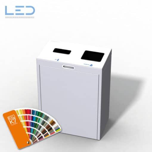 Multilith 2.0 Color Recyclingstation, Recycling Station für Büro, Schule, öffentliche Einrichtungen, Abfall Mobiliar