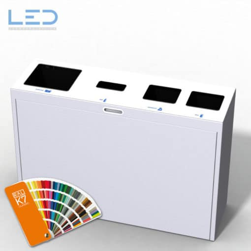 Multilith 4.0 Color Recyclingstation, Recycling Station für Büro, Schule, öffentliche Einrichtungen, Abfall Mobiliar
