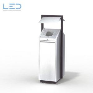 Recycling-Box O1, Recyclingstation O1-Box, Wertstoffbehälter, 110 l, Abfall, PET, Alu, Waste Bin, Public Furniture, Stadtmobiliar, Swiss Made, Entsorgungslösung