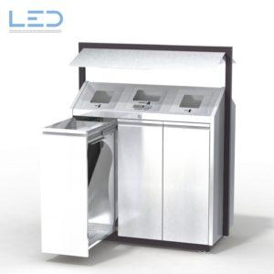 Recycling-Box O3, Recyclingstation O3-Box, Wertstoffbehälter, Abfall, PET, Alu