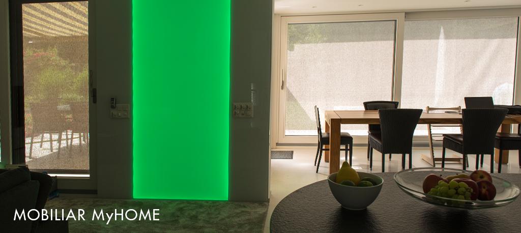LED Leuchtwand, Leuchtwand, RGB, Flachleuchte, ESG Glas hinterleuchtet, Deko Element, Beleuchtung