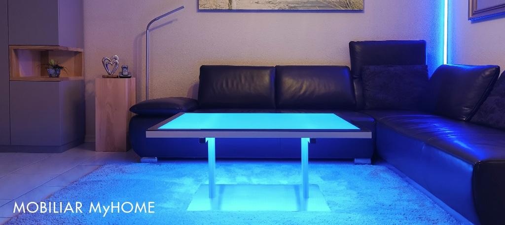 LED Leuchttisch, RGB, Salontisch, Dekoration, Beleuchtung, Leucht Möbel, LED Küchenrückwand, LED Duschwand, Leuchtflächen und mehr