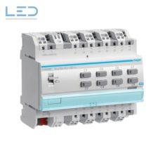 Hager TYA608D, Schalt-/Jalousieaktor 8/4-fach KNX, Handbedienung ohne Bus 16A, C-Last, EAN: 3250616059719, E-Nr 405662556, Elektromaterial