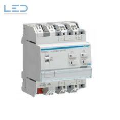 Jalousieaktor Hager TXA624D, 4-fach, 24V, Ney Easy, EAN: 3250616048768, E-Nr 405432516, Steckklemmen QuickConnect, Elektromaterial